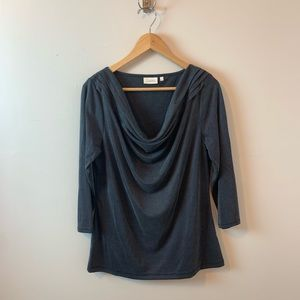 Anthropologie Deletta 3/4 Cowl Neck Top